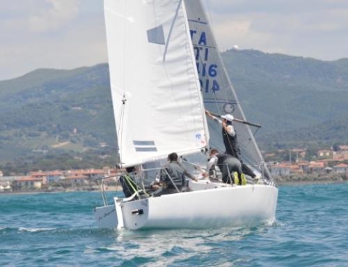 Il J24 Pelle Nera di Paolo Cecamore sempre al comando del 43° Invernale di Anzio e Nettuno.